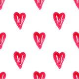 Modello watercolor1 del cuore Immagini Stock