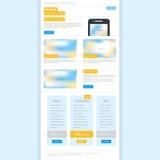 Modello Web per il email Immagini Stock Libere da Diritti