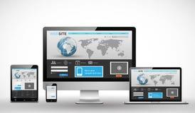 Modello Web rispondente Fotografia Stock Libera da Diritti