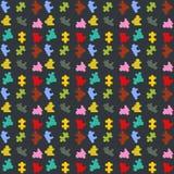 Modellpuzzellinje mörk backgrounnfärgvektor royaltyfri illustrationer