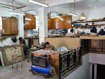 Modellskeppfabrik, Mauritius Arkivfoto