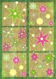 modellsnowflake vektor illustrationer