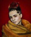 ModellSpace Sun Hair tatuering Royaltyfri Fotografi