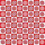 Modelltapeten cirklar rött Arkivbild