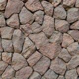 Modellvägg från dekorativa stenar Arkivbilder
