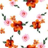 Modellvattenfärgen blommar 001 Royaltyfri Fotografi
