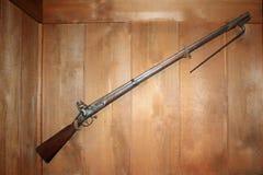Modelmusket 1822 van de V.S. op vertoning in Robinson Museum, Clark, New Jersey stock afbeelding