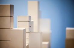 Modelo à escala Building Imagem de Stock Royalty Free