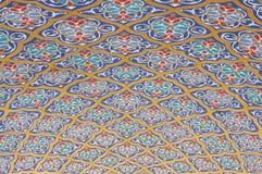 Modelo árabe de la pintura del Islam de los techos de la bóveda de la mezquita fotos de archivo libres de regalías
