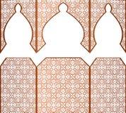 Modelo étnico árabe musulmán del kareem del Ramadán del vector libre illustration