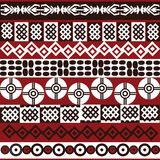 Modelo étnico con símbolos africanos Fotos de archivo libres de regalías