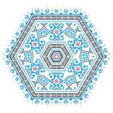 Modelo étnico de la mandala del ornamento en diversos colores Fotografía de archivo libre de regalías