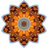 Modelo étnico de la ronda colorida en la forma de la flor de la mandala libre illustration