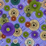 Modelo étnico de repetición inconsútil de círculos y de líneas stock de ilustración