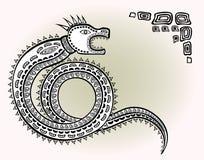 Modelo étnico decorativo en el estilo de la leyenda de poblaciones rusas indias y septentrionales de serpiente estilizada EPS10 libre illustration