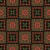 Modelo étnico geométrico abstracto stock de ilustración