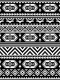 Modelo étnico inconsútil en colores monocromáticos, blancos y negros foto de archivo libre de regalías