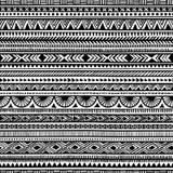 Modelo étnico inconsútil handmade Rayas horizontales Fotos de archivo