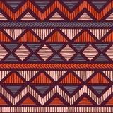Modelo étnico y tribal inconsútil handmade Rayas horizontales Fotos de archivo libres de regalías