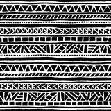 Modelo étnico y tribal inconsútil handmade Rayas horizontales Fotografía de archivo