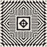 Modelo étnico y tribal inconsútil Rayas ornamentales dibujadas mano Impresión blanco y negro para sus materias textiles Fondo del libre illustration