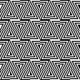 Modelo óptico inconsútil de triángulos Stock de ilustración