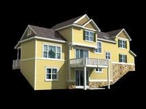 modelo 3d da casa de dois níveis Fotografia de Stock