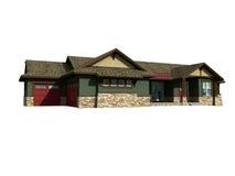 modelo 3d da casa de rancho Imagens de Stock