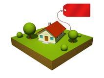 modelo 3d de la casa Ilustración del Vector
