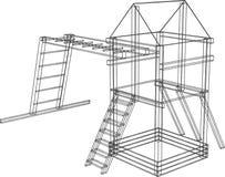 modelo 3d de las diapositivas de los niños. Vector Imagen de archivo