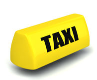modelo 3d del símbolo del taxi Fotografía de archivo