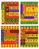 Modelo abstracto étnico en estilo africano Foto de archivo libre de regalías