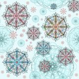 Modelo abstracto azul con los elementos decorativos Imagen de archivo libre de regalías