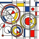 Modelo abstracto azul rojo amarillo libre illustration