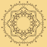 Modelo abstracto circular en estilo árabe Imagen de archivo libre de regalías