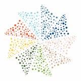 Modelo abstracto colorido con los círculos libre illustration