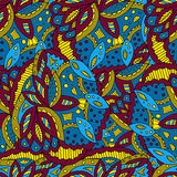 Modelo abstracto colorido de hojas pintadas Fotografía de archivo