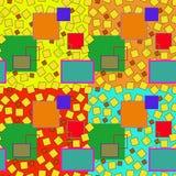 Modelo abstracto colorido de los cuadrados stock de ilustración