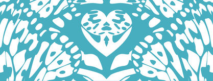 Modelo abstracto con el azul y el blanco del símbolo del corazón Foto de archivo libre de regalías