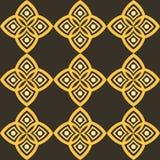 Modelo abstracto con estilística geométrica y adorno árabe Foto de archivo