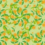Modelo abstracto con las flores Foto de archivo libre de regalías