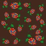 Modelo abstracto con las flores Fotos de archivo libres de regalías