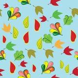 Modelo abstracto con las hojas de otoño Ilustración del Vector