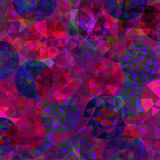 Modelo abstracto con las rondas coloridas Fotos de archivo