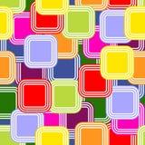 Modelo abstracto con los cuadrados coloreados Imágenes de archivo libres de regalías