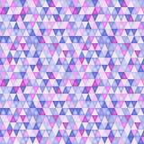Modelo abstracto con los triángulos en ultravioleta stock de ilustración