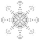 Modelo abstracto, contornos Imagenes de archivo