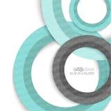 Modelo abstracto creativo del círculo Imagenes de archivo