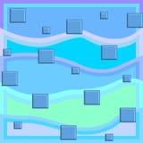 Modelo abstracto cuadrado Ilustración del Vector