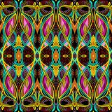 Modelo abstracto de la bufanda, fondo del diseño de la bufanda stock de ilustración